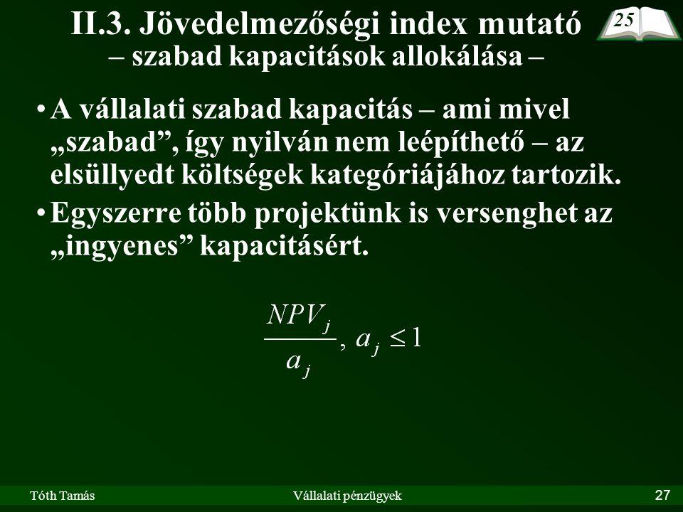 Tóth TamásVállalati pénzügyek27 II.3.