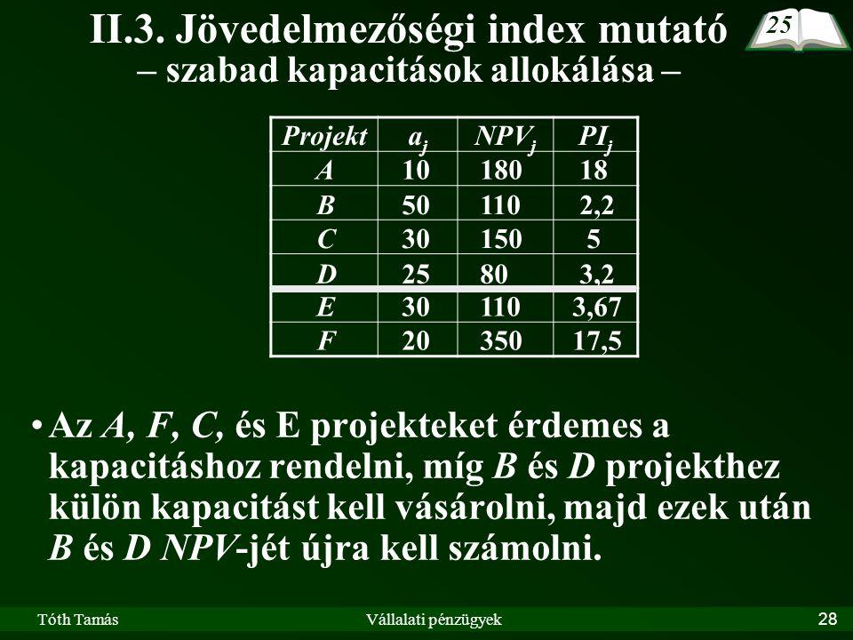 Tóth TamásVállalati pénzügyek28 II.3.