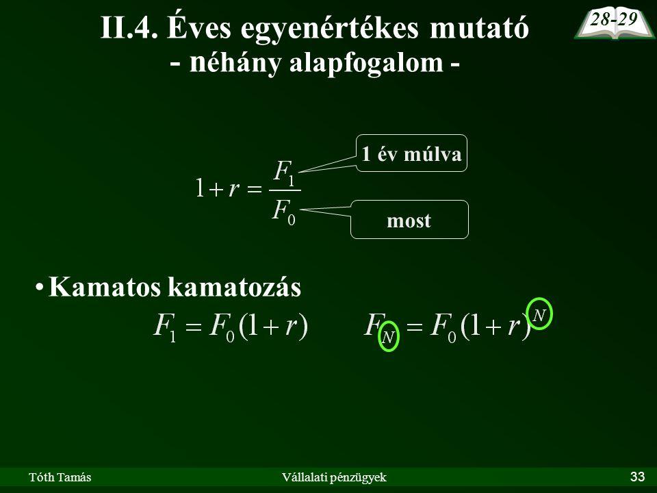 Tóth TamásVállalati pénzügyek33 II.4.