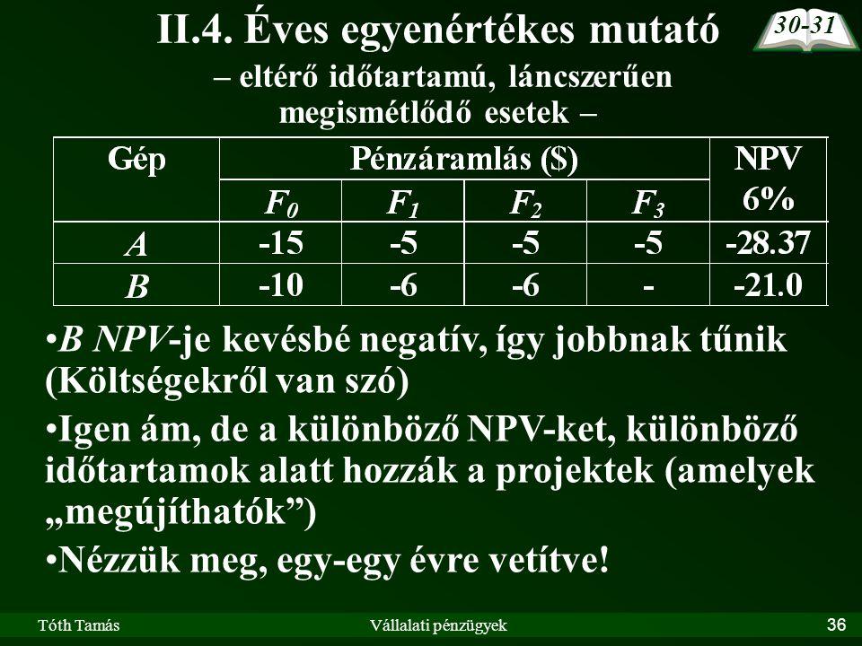 Tóth TamásVállalati pénzügyek36 II.4.