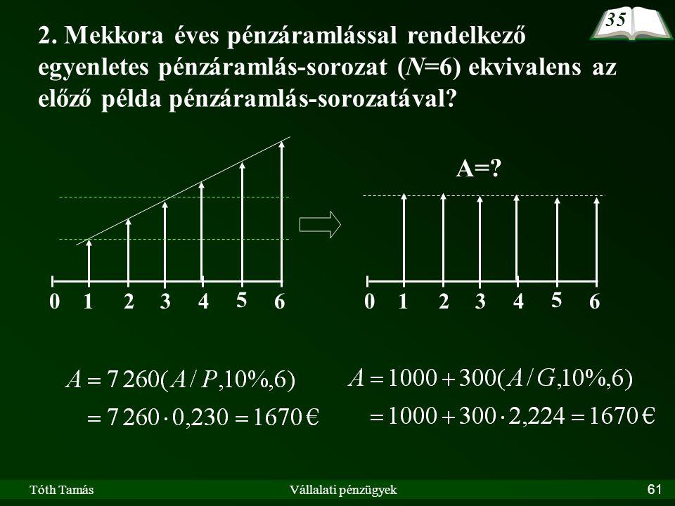 Tóth TamásVállalati pénzügyek61 2.