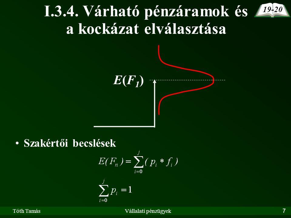 Tóth TamásVállalati pénzügyek7 I.3.4.