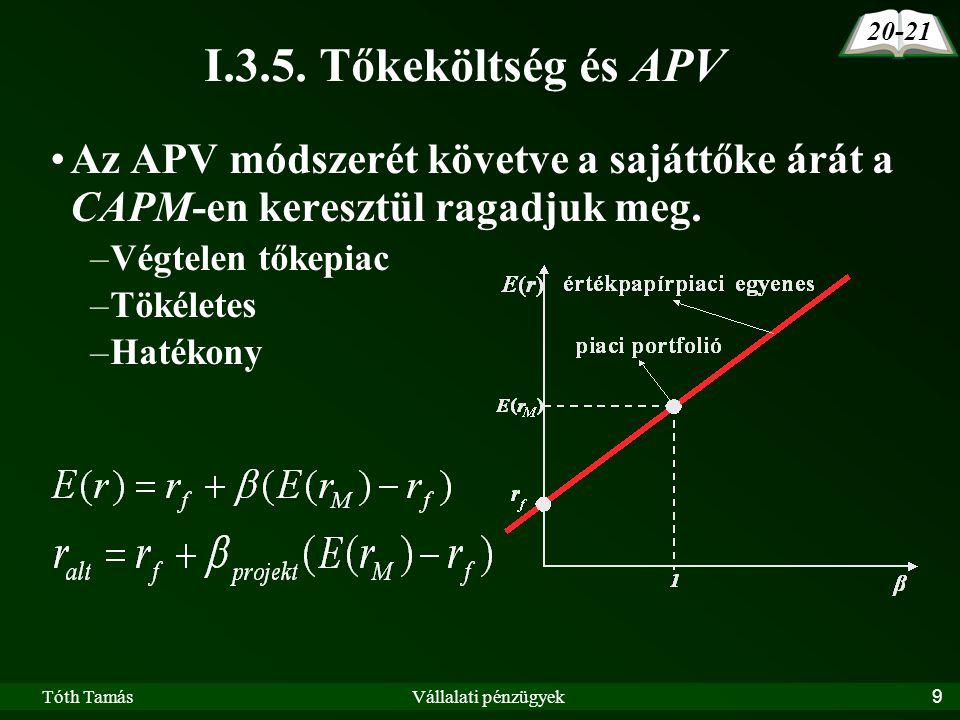 Tóth TamásVállalati pénzügyek9 I.3.5.