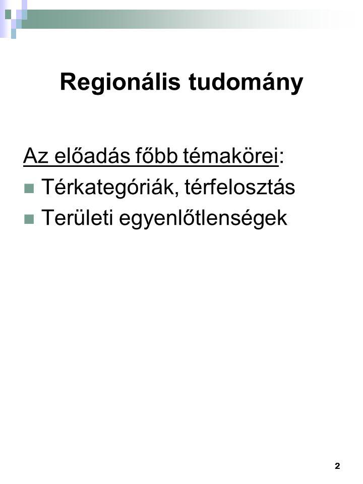 13 Az EU területi beosztása A régiók fajtái: a) Normatív (NUTS rendszer) - egy államon belül vannak - saját intézményesített (politikai) testülettel rendelkeznek - a központi szervektől független végrehajtó szervekkel rendelkeznek - identitásuk van b) Funkcionális - pl.