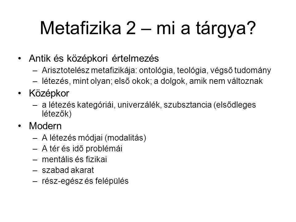 Metafizika 2 – mi a tárgya.
