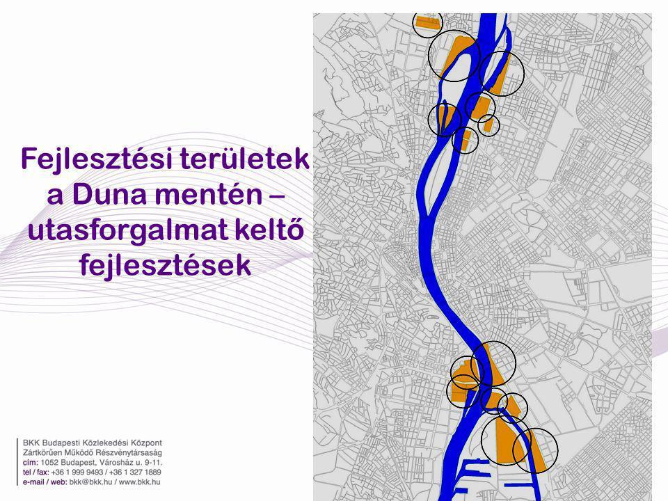 Fejlesztési területek a Duna mentén – utasforgalmat kelt ő fejlesztések