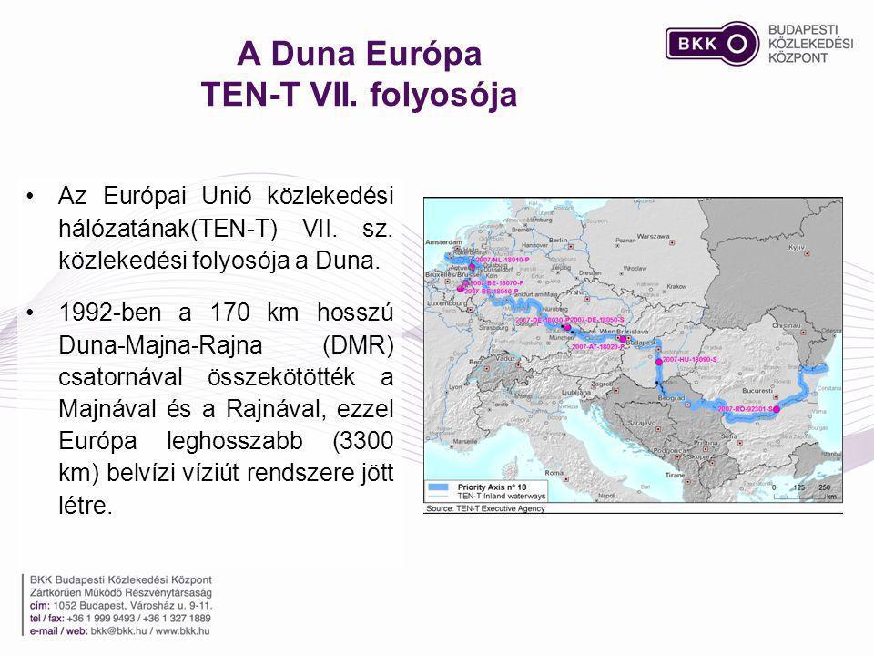 A Duna Európa TEN-T VII. folyosója Az Európai Unió közlekedési hálózatának(TEN-T) VII. sz. közlekedési folyosója a Duna. 1992-ben a 170 km hosszú Duna