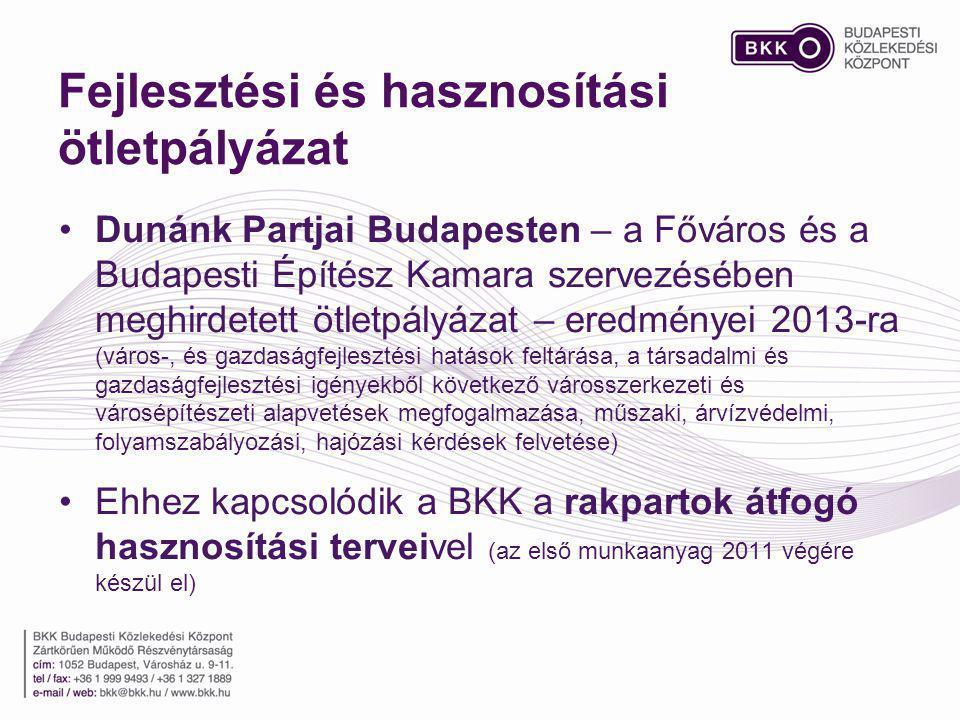 Fejlesztési és hasznosítási ötletpályázat Dunánk Partjai Budapesten – a Főváros és a Budapesti Építész Kamara szervezésében meghirdetett ötletpályázat