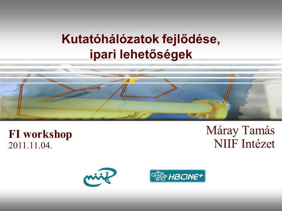 Kutatóhálózatok fejlődése, ipari lehetőségek Máray Tamás NIIF Intézet FI workshop 2011.11.04.