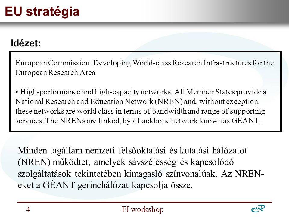 Nemzeti Információs Infrastruktúra Fejlesztési Intézet FI workshop 15 Az új NIIF gerinchálózat