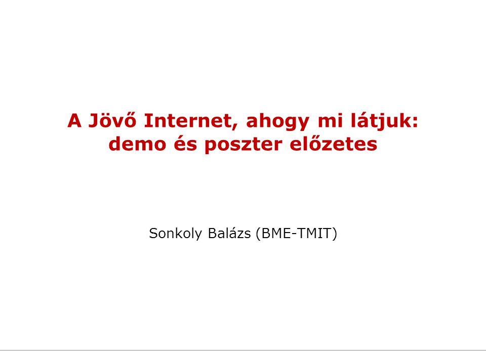 A Jövő Internet, ahogy mi látjuk: demo és poszter előzetes Sonkoly Balázs (BME-TMIT)