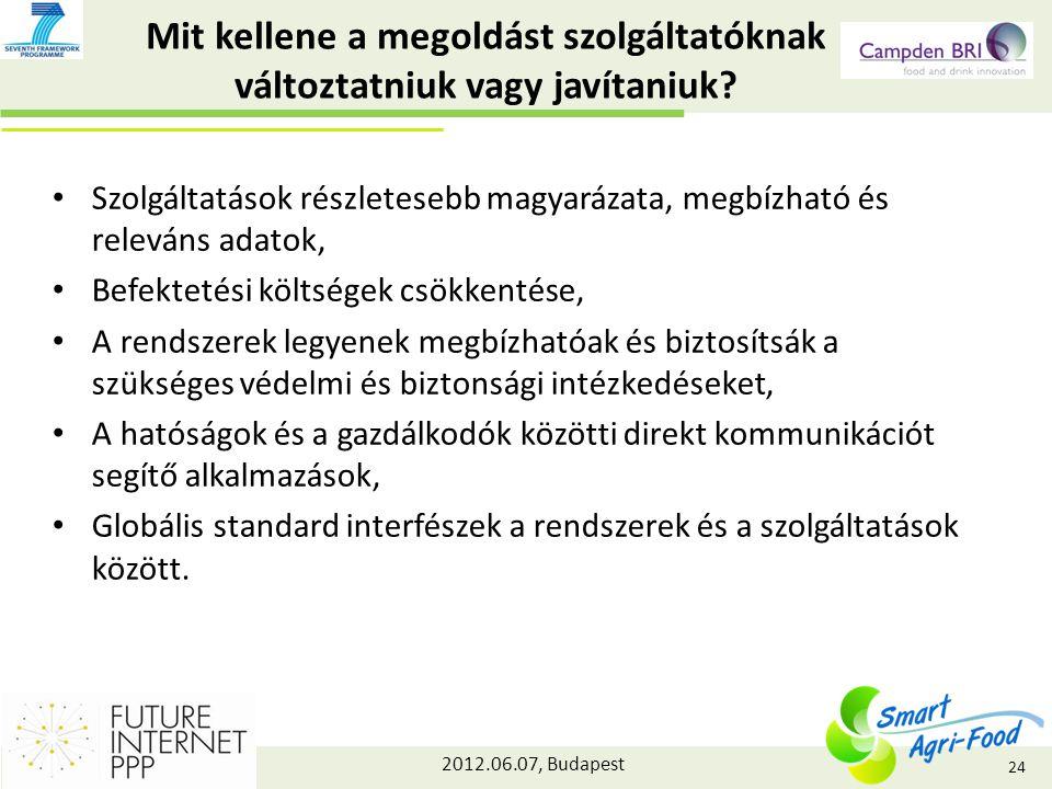 2012.06.07, Budapest Mit kellene a megoldást szolgáltatóknak változtatniuk vagy javítaniuk.