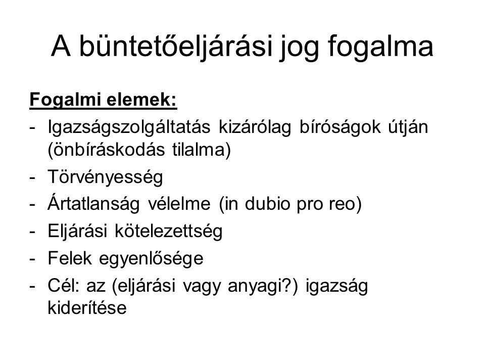 A magyar büntető eljárási jog fejlődésének rövid története A Bp.