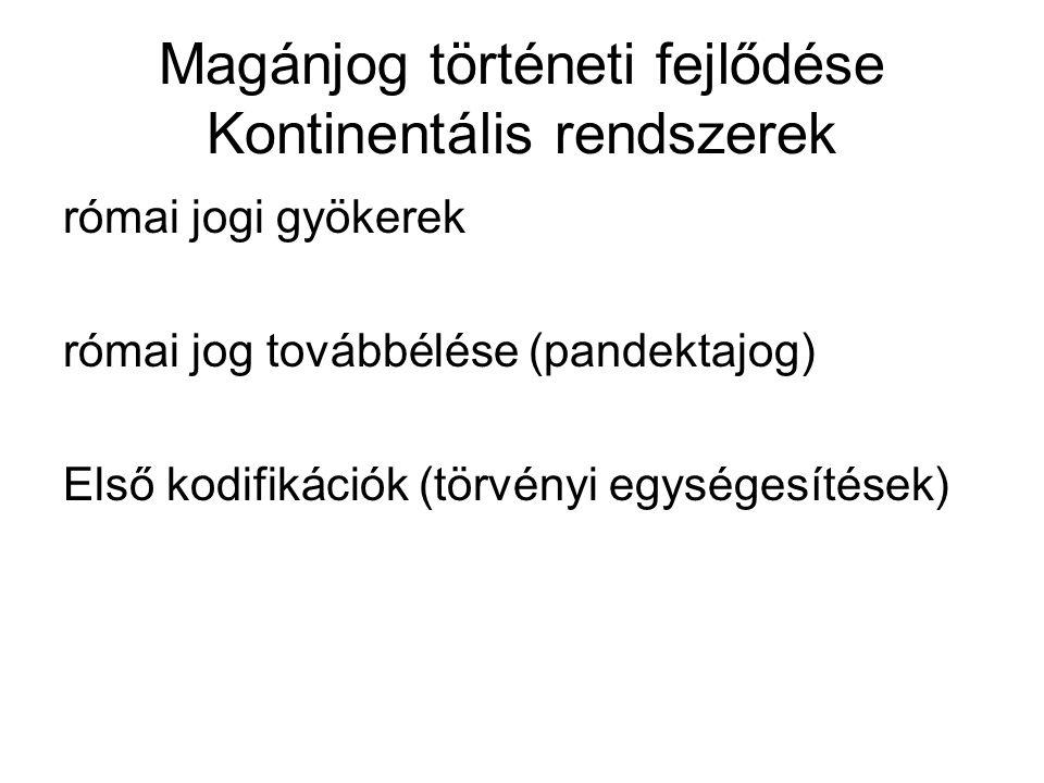 Első kodifikációk 1.1791.