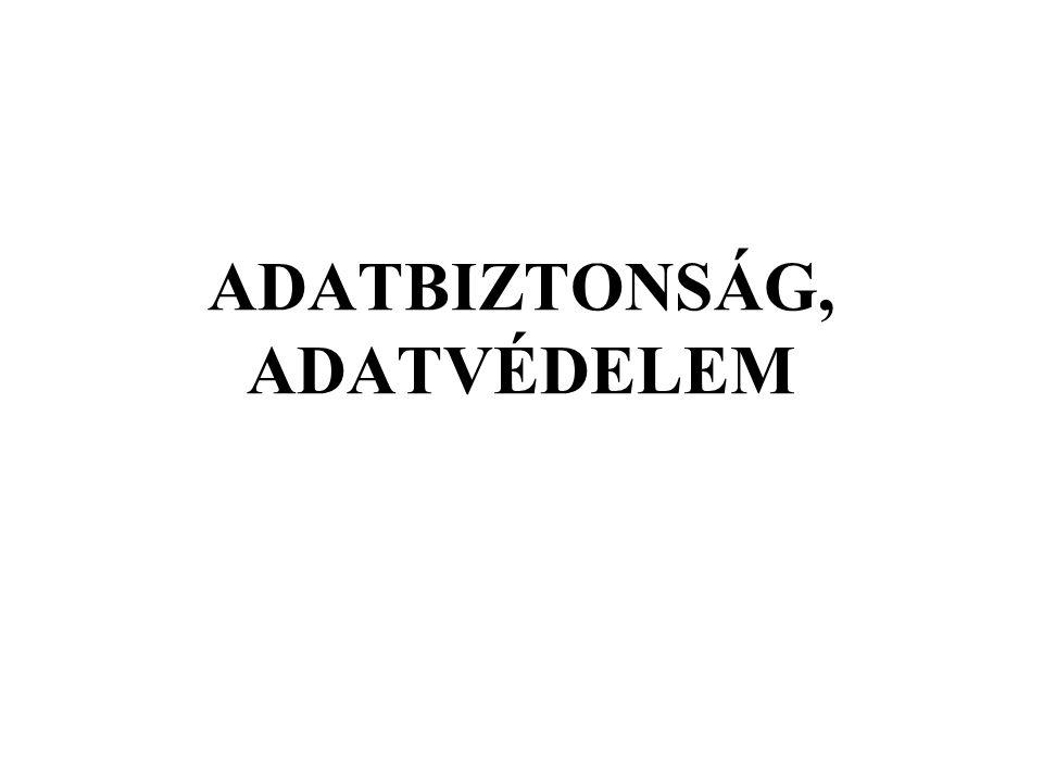 ADATBIZTONSÁG, ADATVÉDELEM