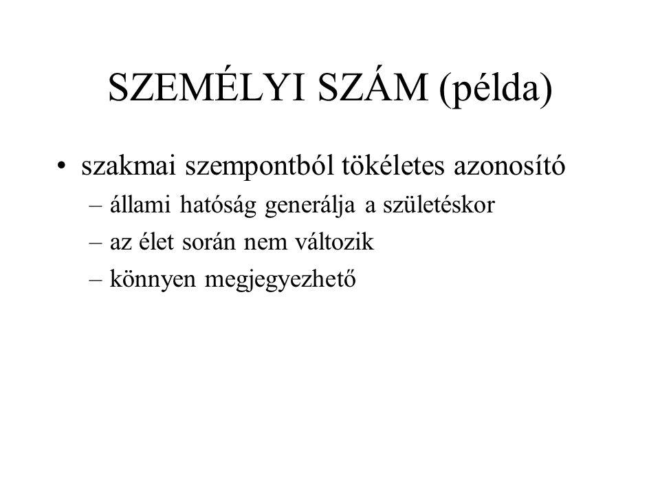 SZEMÉLYI SZÁM (példa) 15/1991.(IV.13.) AB sz.