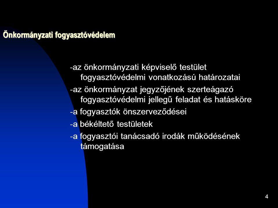 5 A civil (érdekképviseleti) fogyasztóvédelem A fogyasztók önszerveződésében a fogyasztói érdekvédelmet, érdekképviseletet ellátó társadalmi szervezetek (pl.