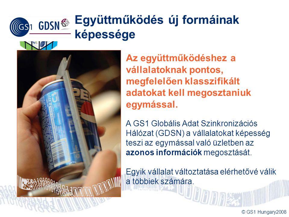 © GS1 Hungary2008 Együttműködés új formáinak képessége Az együttműködéshez a vállalatoknak pontos, megfelelően klasszifikált adatokat kell megosztaniu