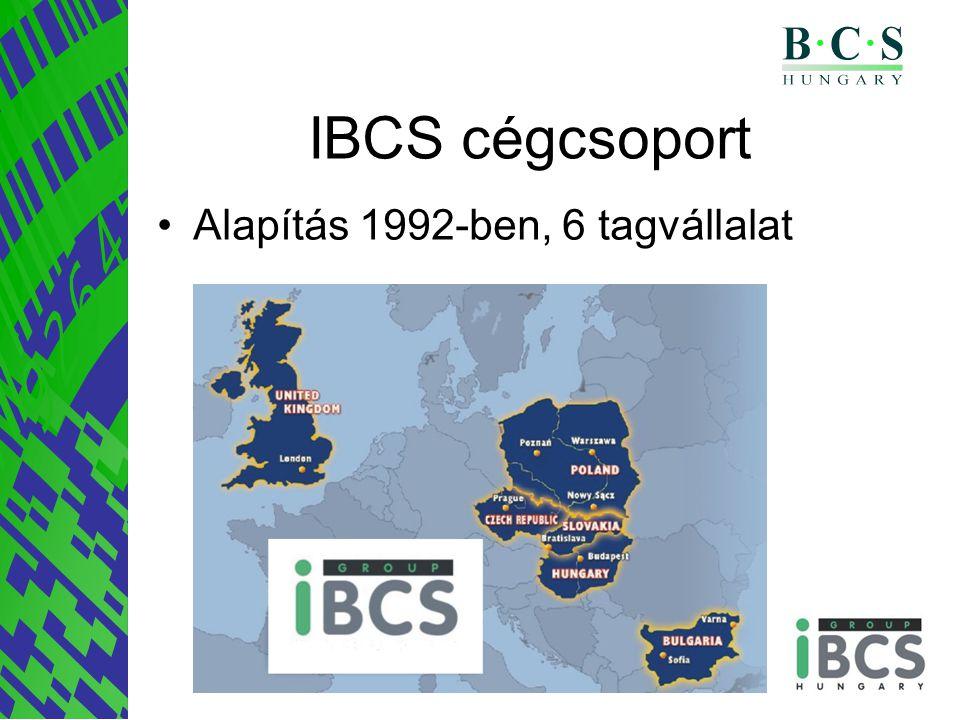 IBCS cégcsoport Alapítás 1992-ben, 6 tagvállalat