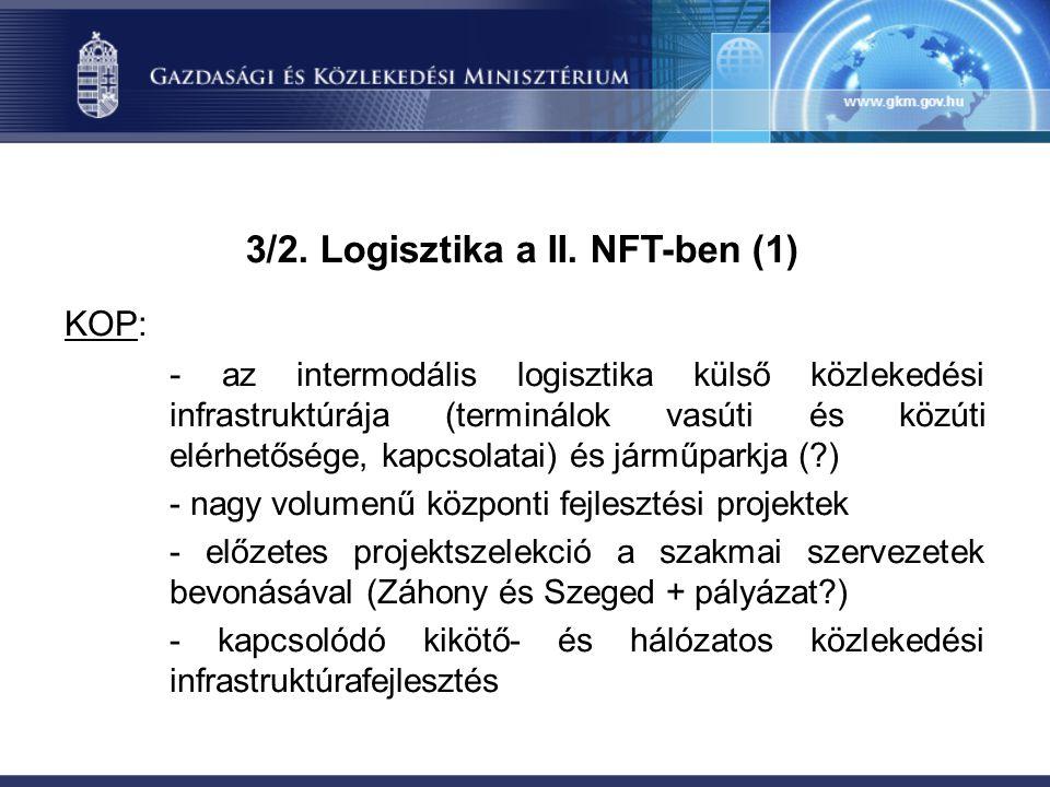 3/2. Logisztika a II.