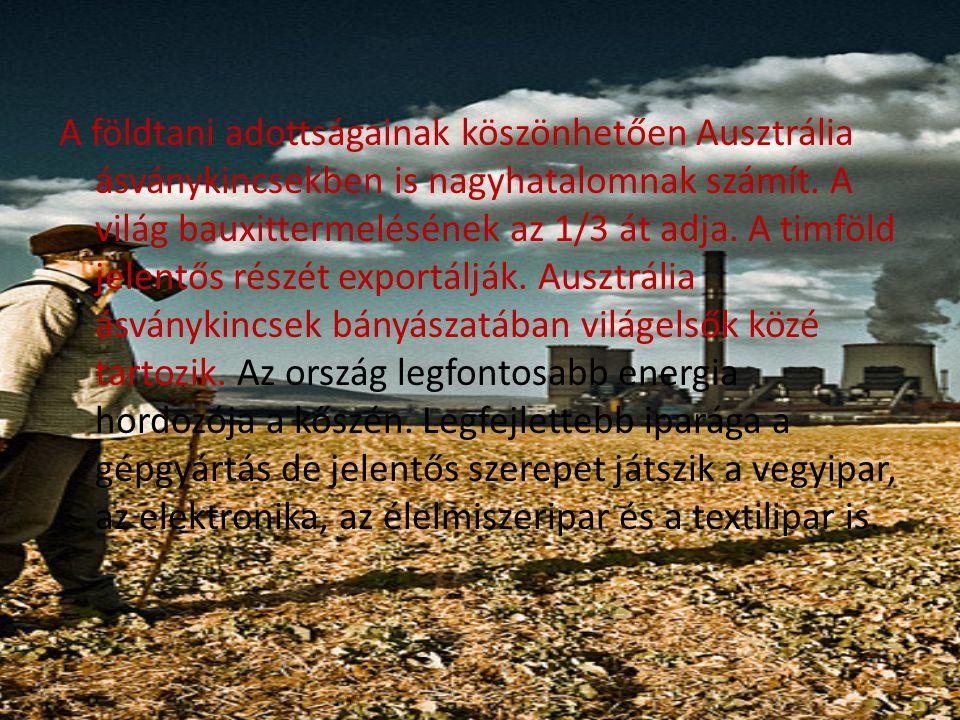 A földtani adottságainak köszönhetően Ausztrália ásványkincsekben is nagyhatalomnak számít.