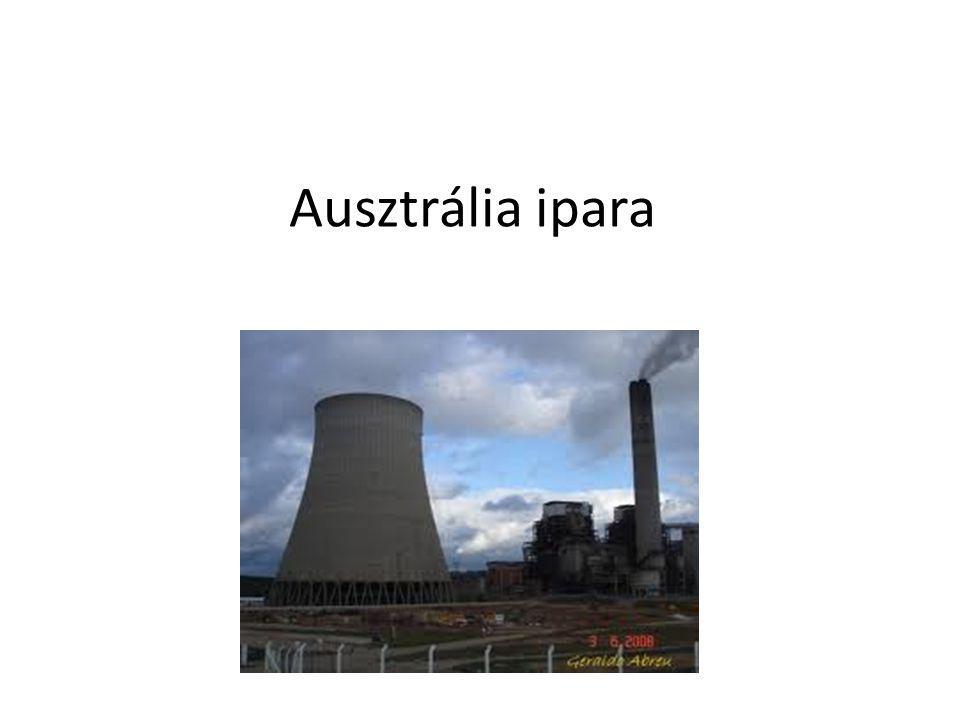 Ásványkincsei Adottságaiból adódóan Ausztrália ásványi nagyhatalomnak számít A világ bauxit termelésének az 1/3-át adja, ezt nagy részben exportálják Vasérc, színesérc, nemesfémek, uránérc, és gyémánt bányászat terén is a világ élvonalába tartozik Legfontosabb energia hordozója a kőszén