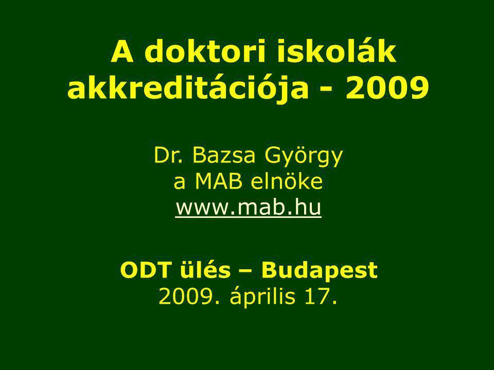 A doktori adatbázis feltöltése, aktualizálása a 2009.