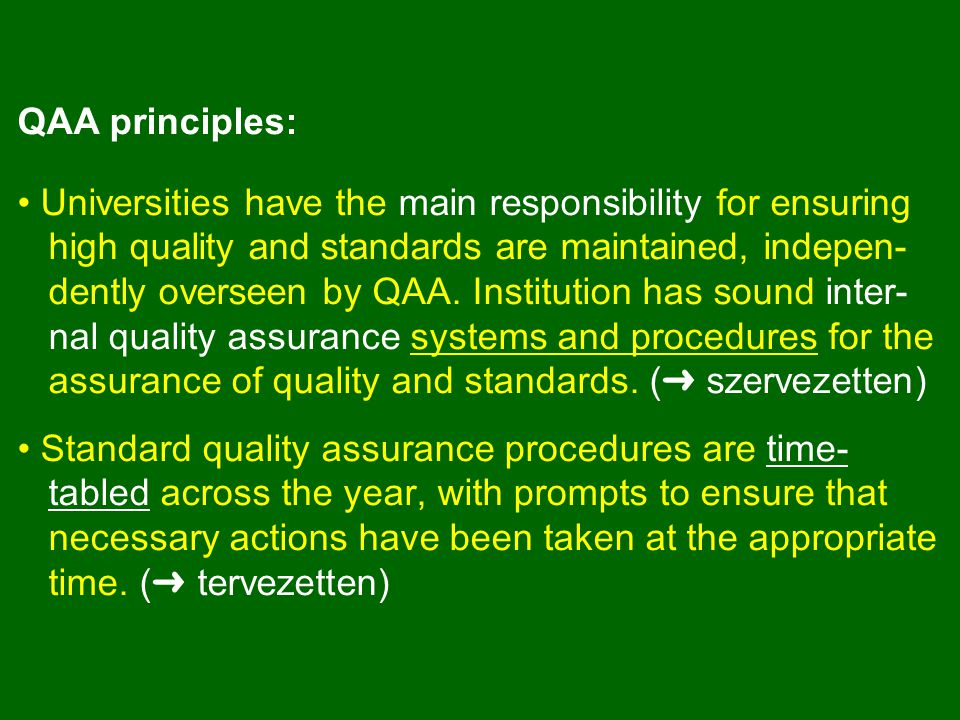EDUCATION COMMITTEE QUALITY ASSURANCE HANDBOOK Course design, approval, monitoring and review Student feedback Student complaints and appeals External input Quality enhancement in learning and teaching Monitoring of teaching http://www.admin.ox.ac.uk/epsc/handbook/