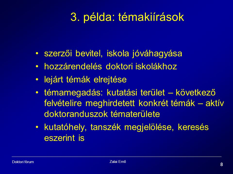 Zalai Ernő 8 Doktori fórum 3.