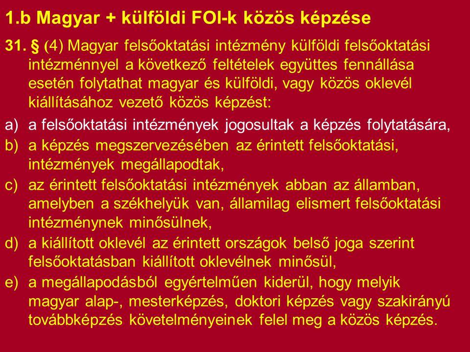 1.b Magyar + külföldi FOI-k közös képzése 31.