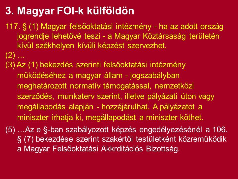 3. Magyar FOI-k külföldön 117.