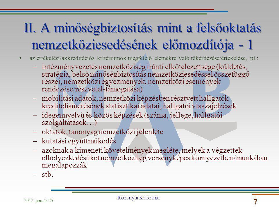 2012. január 25. Rozsnyai Krisztina 7 II.
