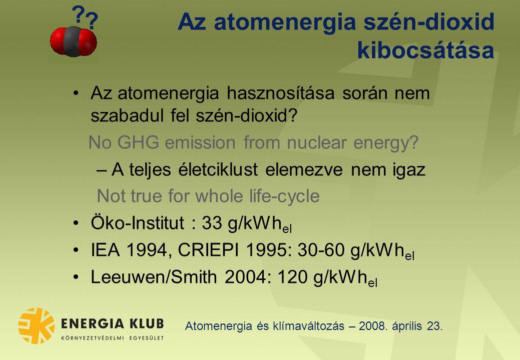 Atomenergia és klímaváltozás – 2008.április 23.