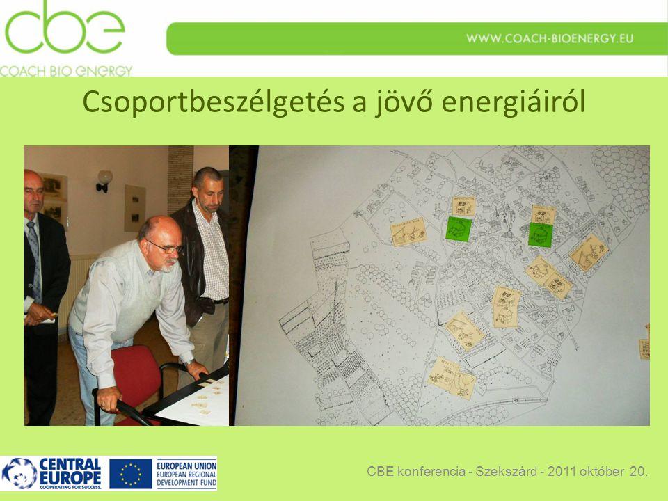 Csoportbeszélgetés a jövő energiáiról CBE konferencia - Szekszárd - 2011 október 20.
