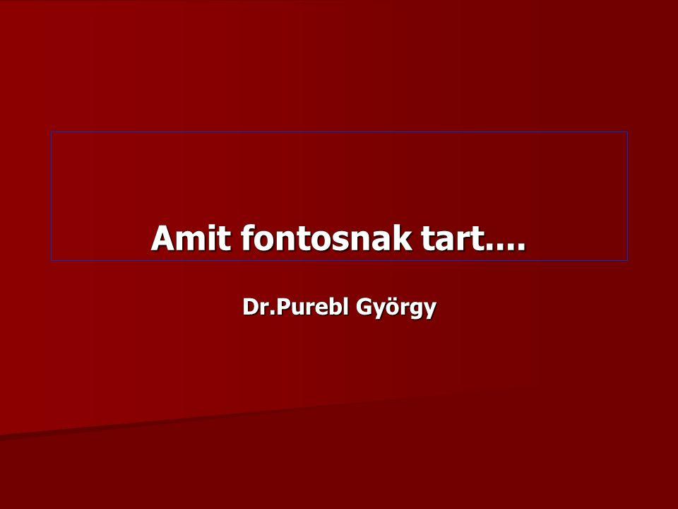 Amit fontosnak tart.... Dr.Purebl György