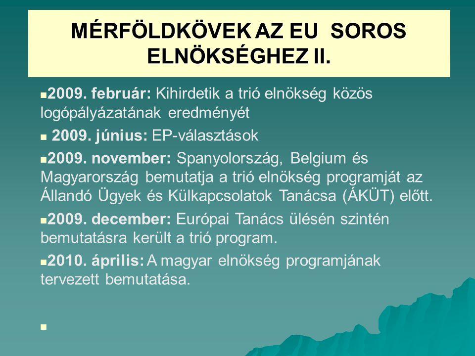 MÉRFÖLDKÖVEK AZ EU SOROS ELNÖKSÉGHEZ II.2009.