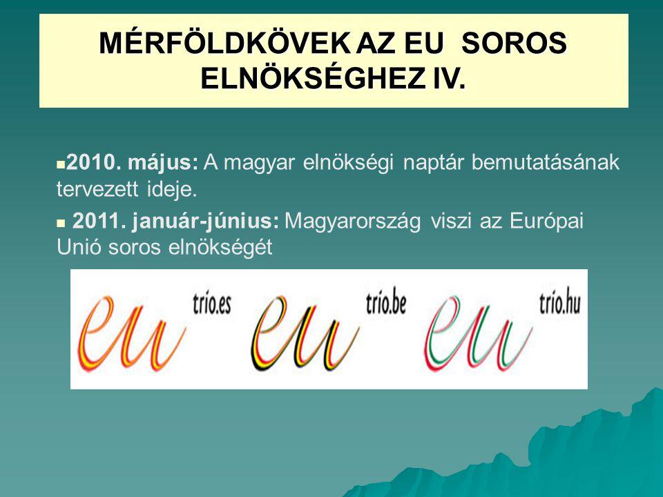 MÉRFÖLDKÖVEK AZ EU SOROS ELNÖKSÉGHEZ IV.2010.