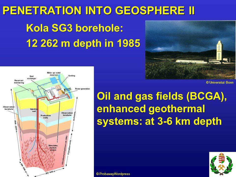 Bingham open pit: 1.2 km deep, 2.5 km wide East Rand mine: 3.6 km deep PENETRATION INTO GEOSPHERE III © Iran Geoscience Center © Flickr