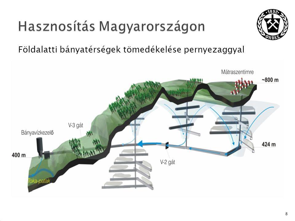8 Földalatti bányatérségek tömedékelése pernyezaggyal