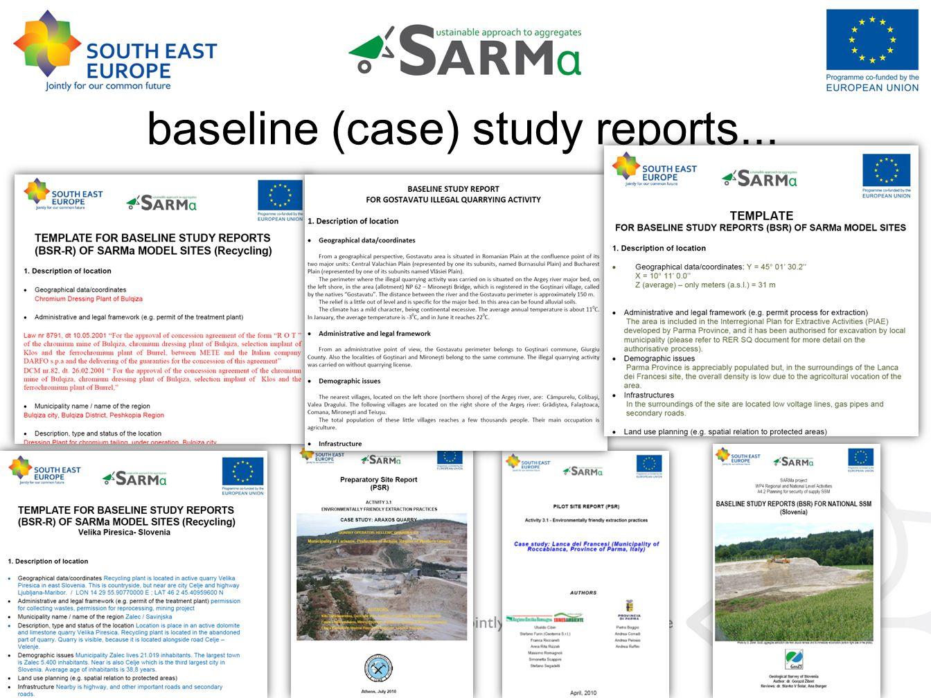 baseline (case) study reports...