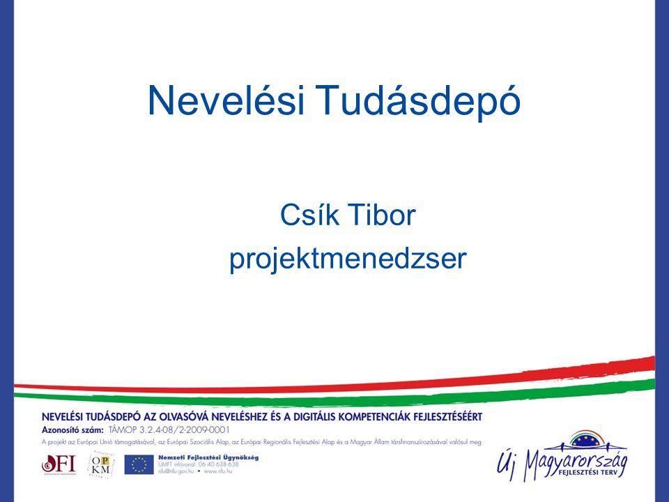 Nevelési Tudásdepó Csík Tibor projektmenedzser