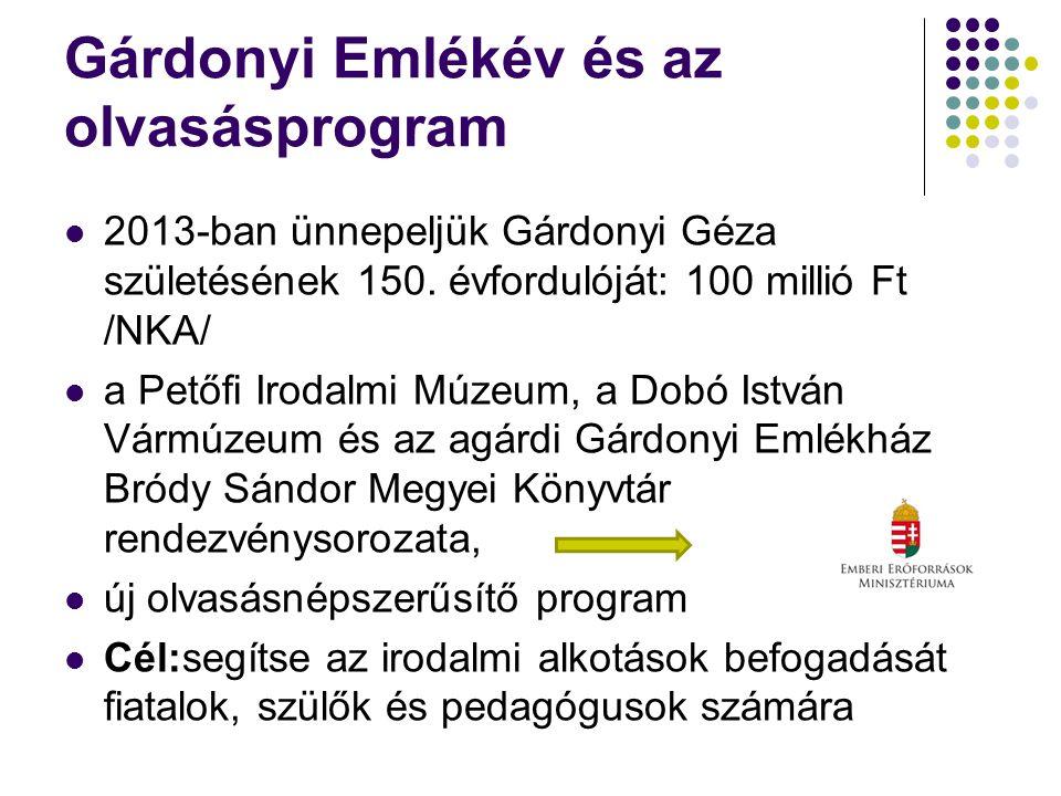 Gárdonyi Emlékév és az olvasásprogram 2013-ban ünnepeljük Gárdonyi Géza születésének 150.