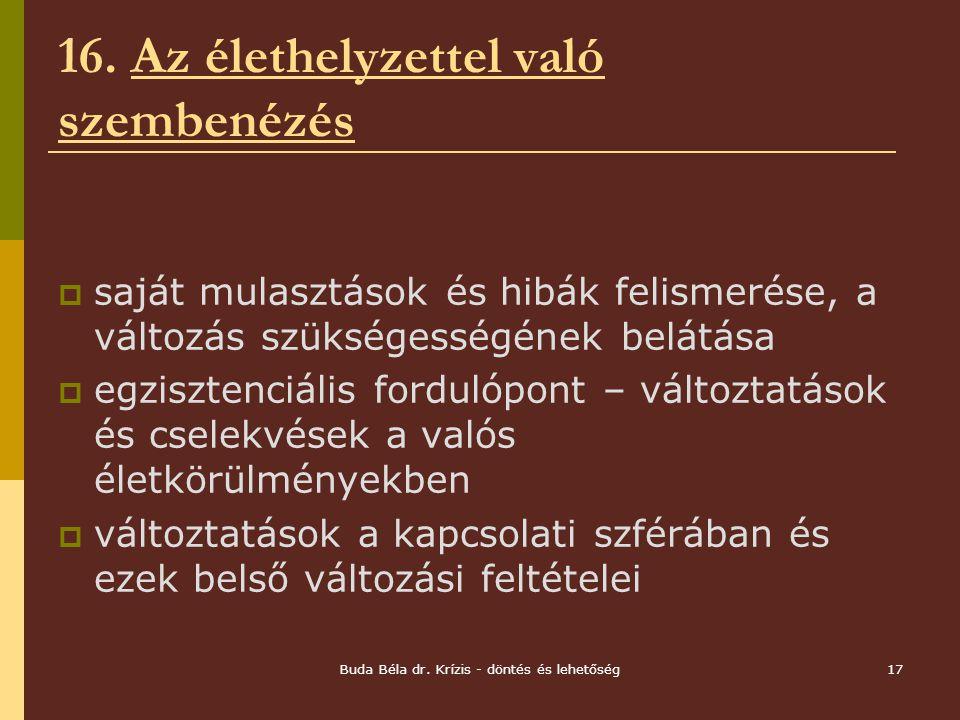 Buda Béla dr.Krízis - döntés és lehetőség17 16.