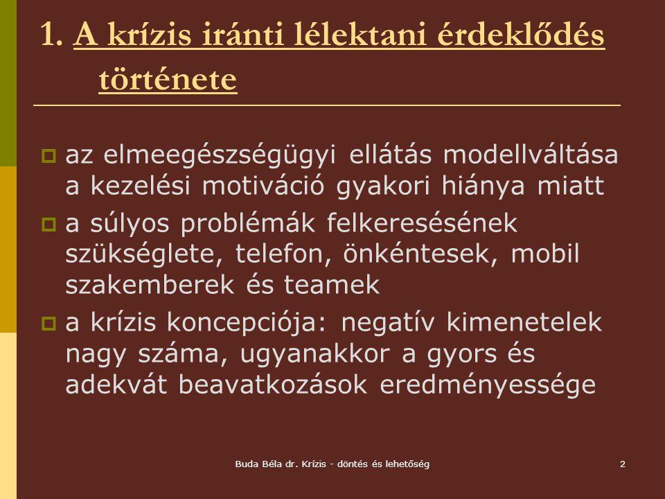 Buda Béla dr.Krízis - döntés és lehetőség2 1.