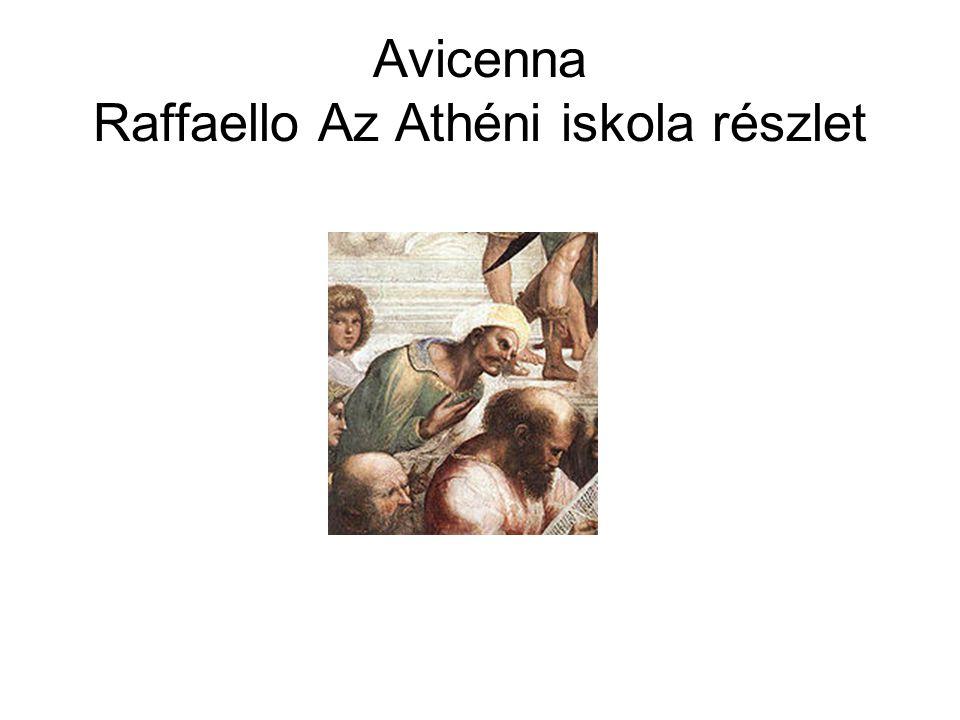 Avicenna Raffaello Az Athéni iskola részlet