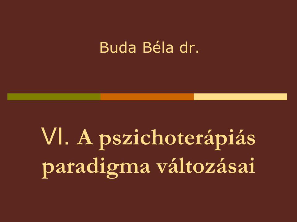 VI. A pszichoterápiás paradigma változásai Buda Béla dr.