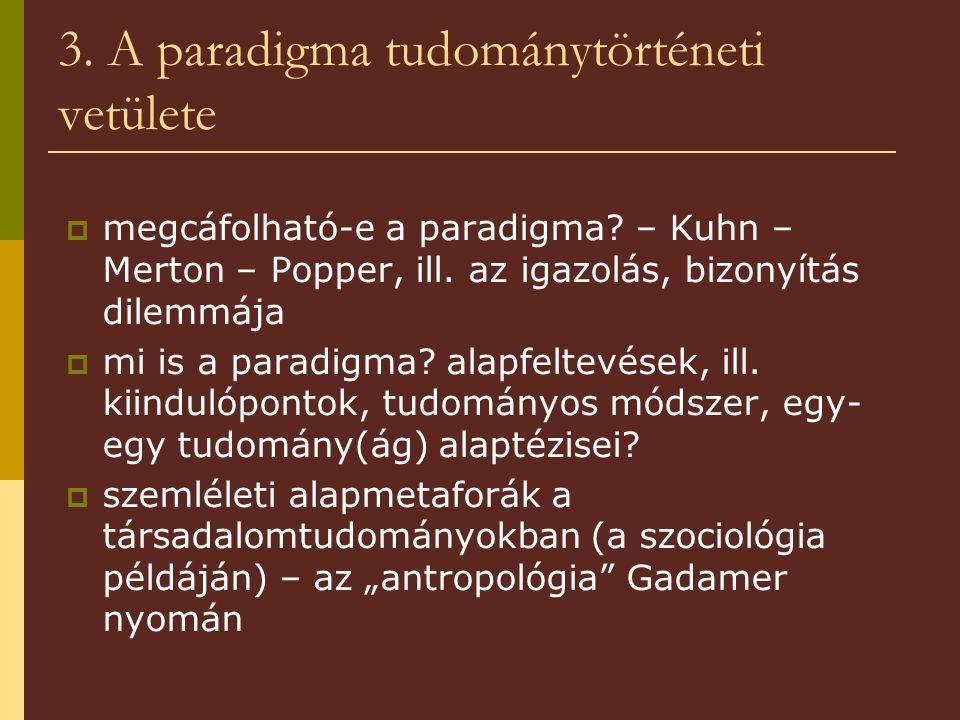 3. A paradigma tudománytörténeti vetülete  megcáfolható-e a paradigma.