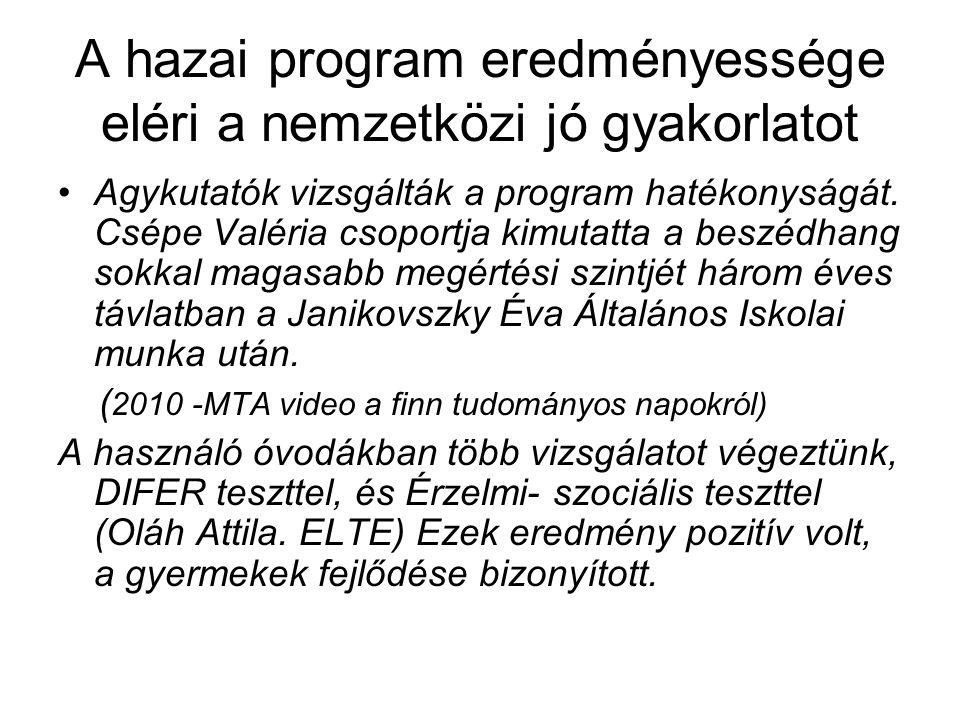 A hazai program eredményessége eléri a nemzetközi jó gyakorlatot Agykutatók vizsgálták a program hatékonyságát.