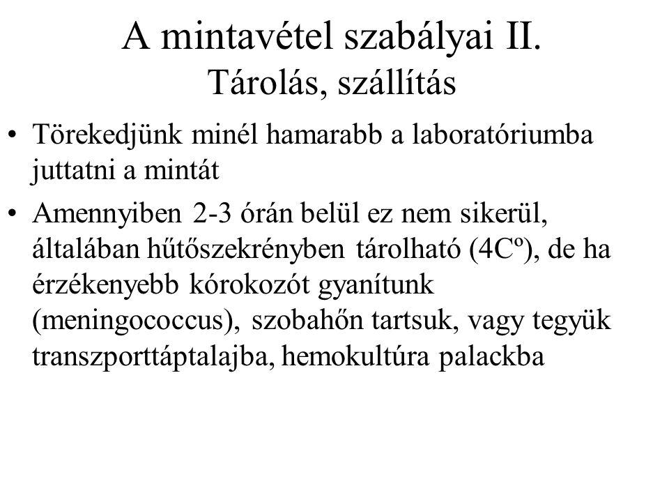 A mintavétel szabályai II.
