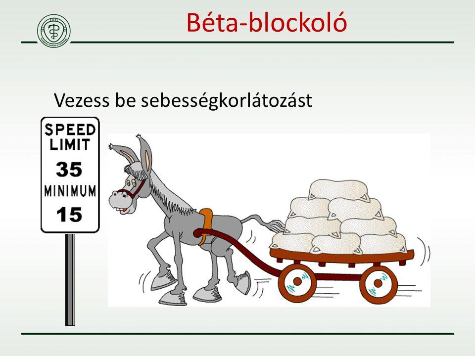 Vezess be sebességkorlátozást Béta-blockoló